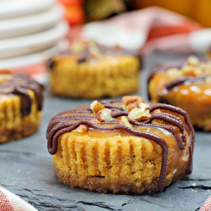 Pumpkin Spice Turtle Cheesecake
