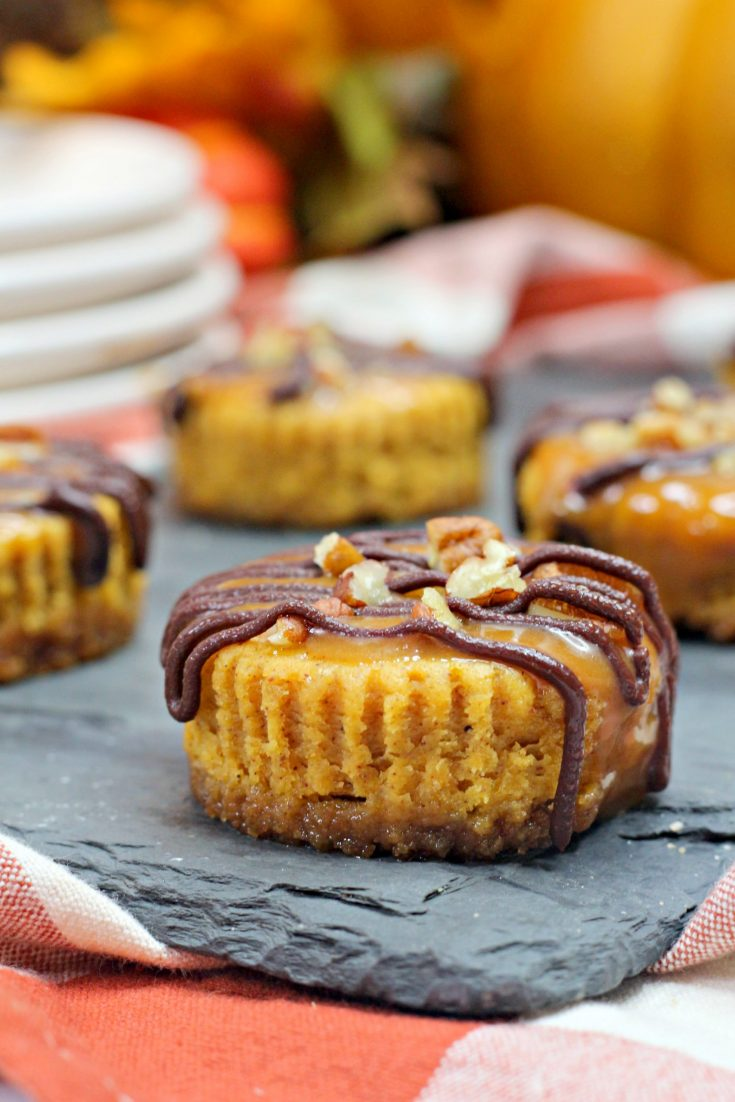 Pumpkin Spice Turtle Cheesecake