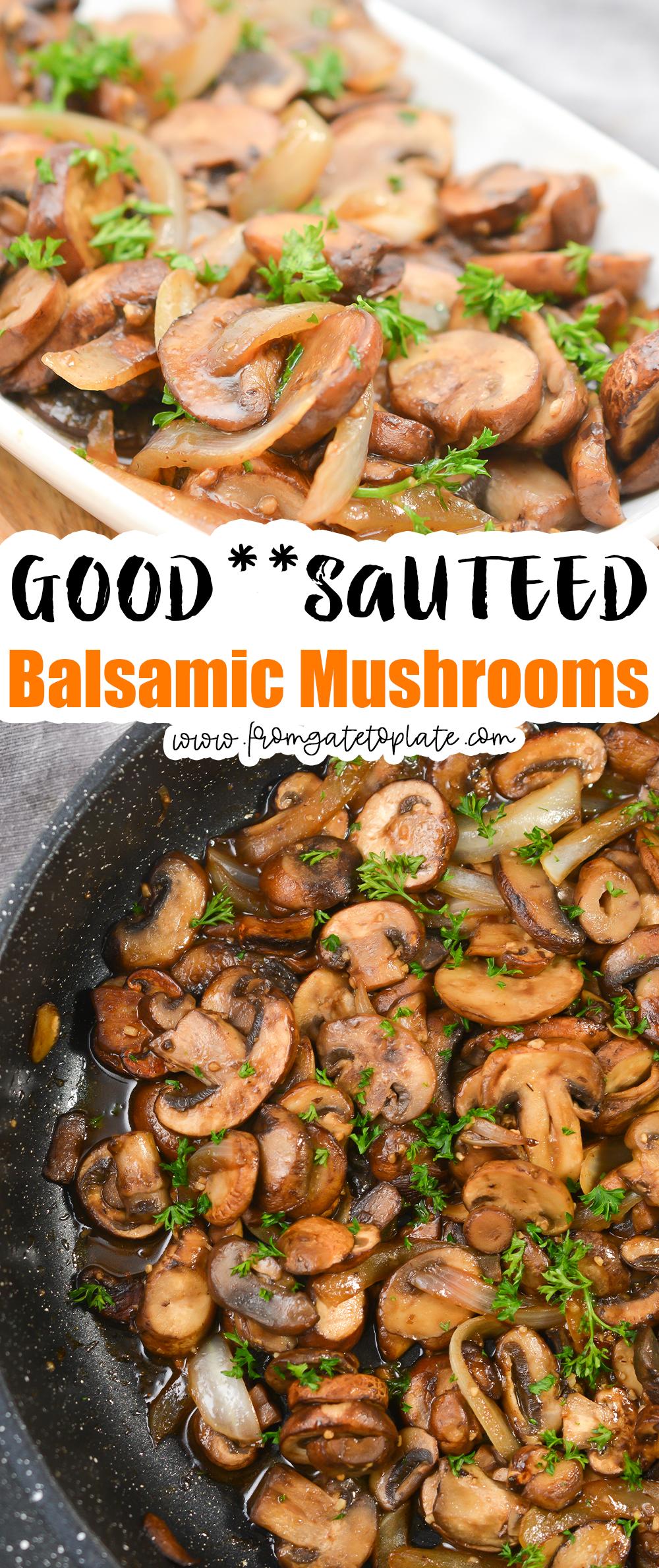 Sauteed Balsamic Mushrooms