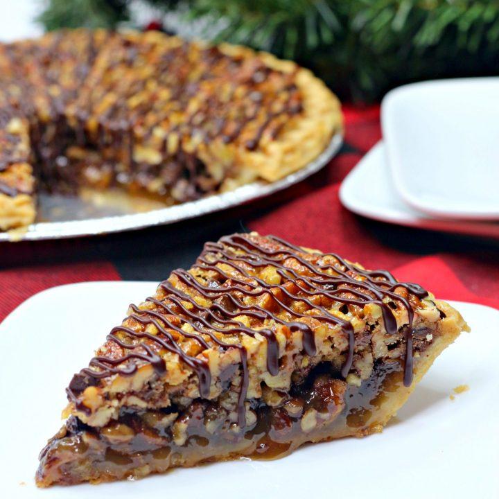 Chocolate Pecan Turtle Pie