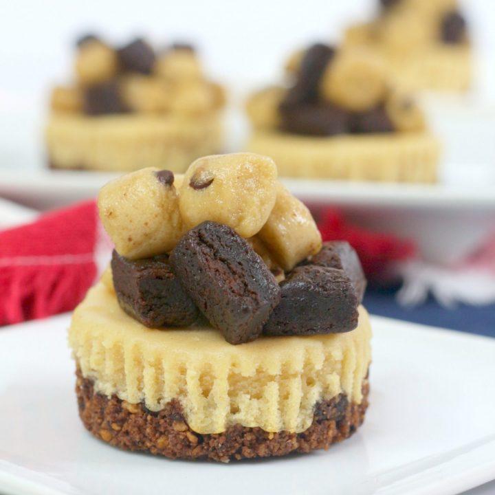 Peanut Brownie Dough Cheesecake