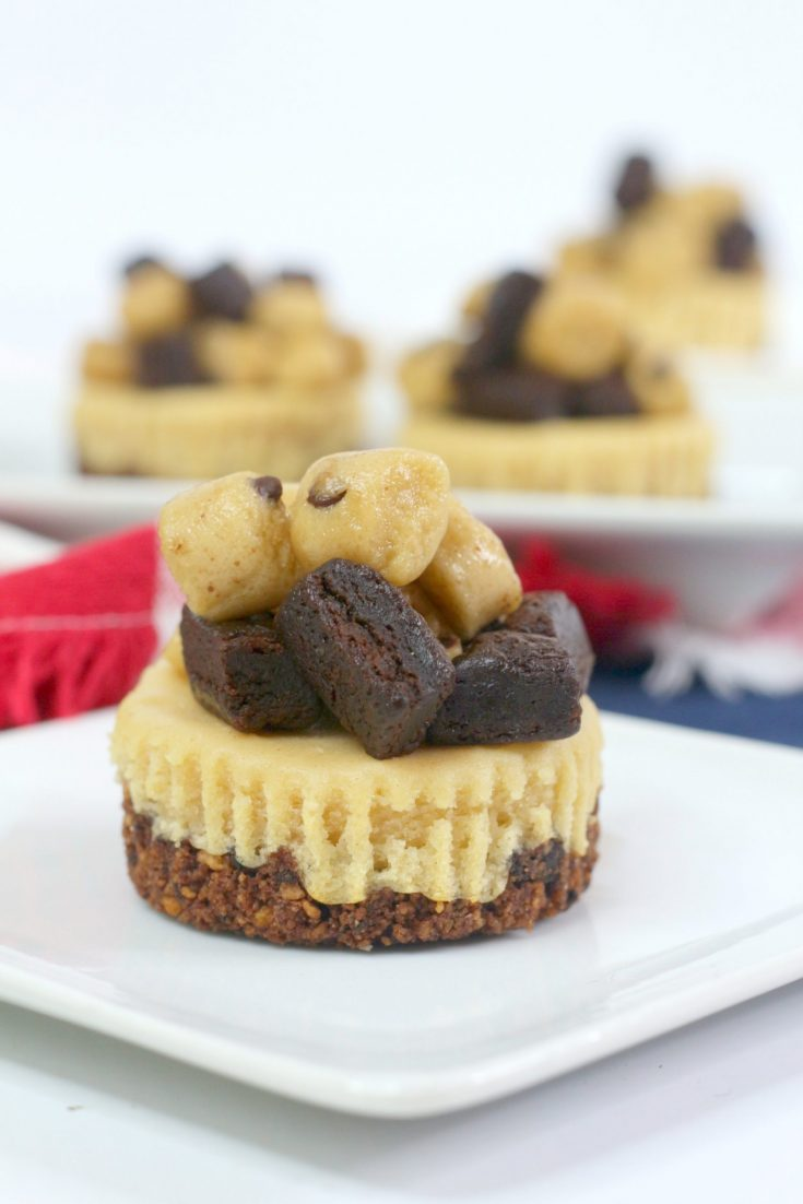 Peanut Brownie Dough Cheesecake