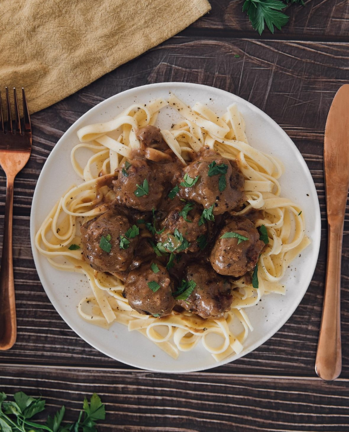 Easy French Onion Chicken Meatballs