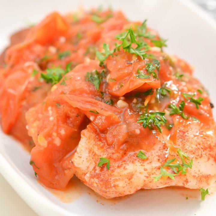 Super Easy Cod Fish in Tomato Sauce