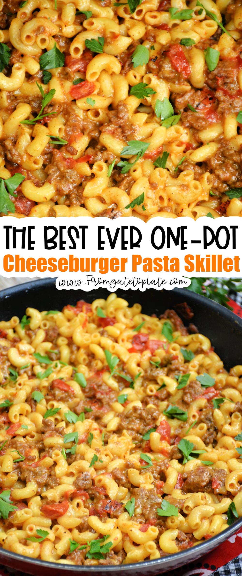 One-Pot Cheeseburger Pasta Skillet