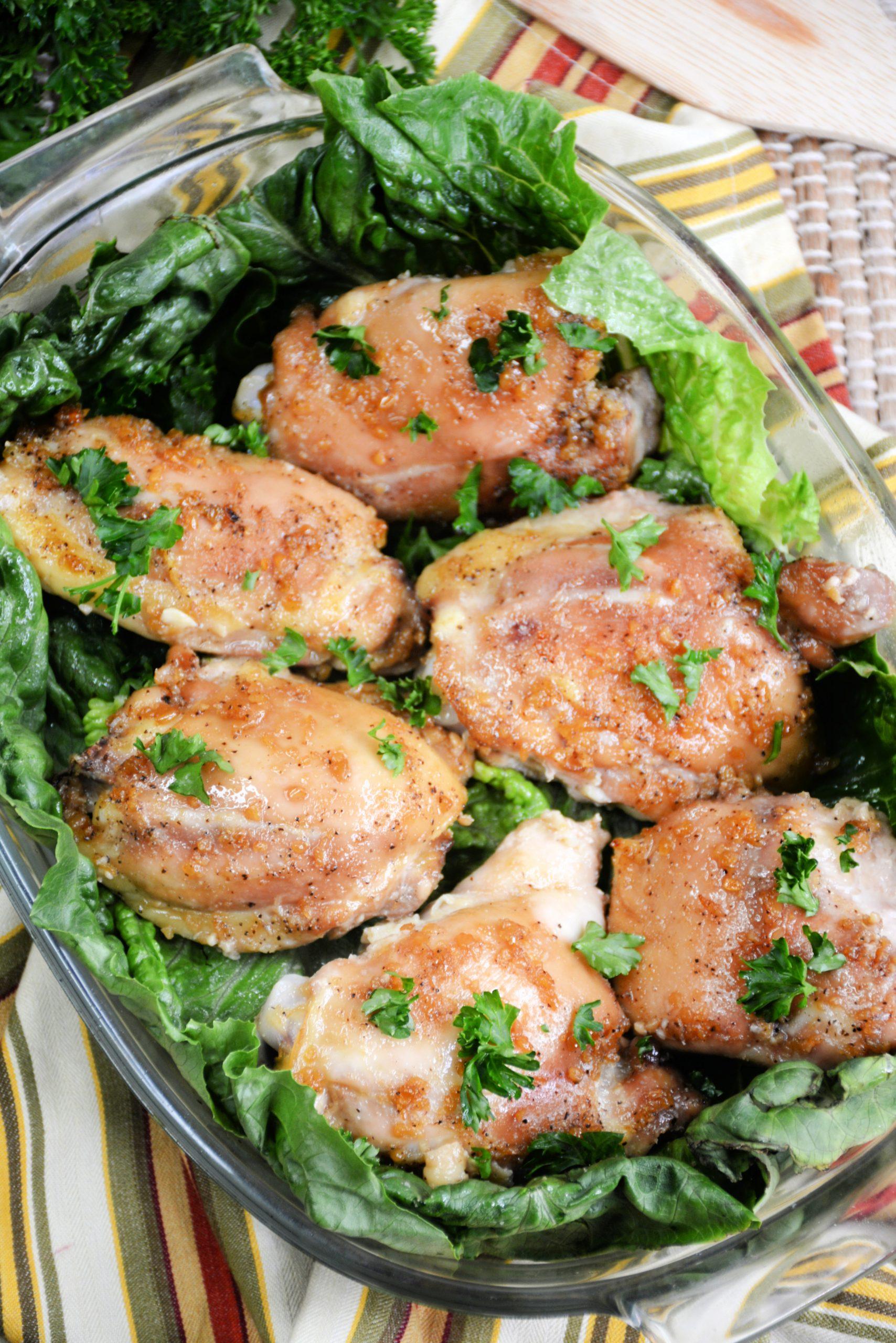Skinny Garlic Chicken