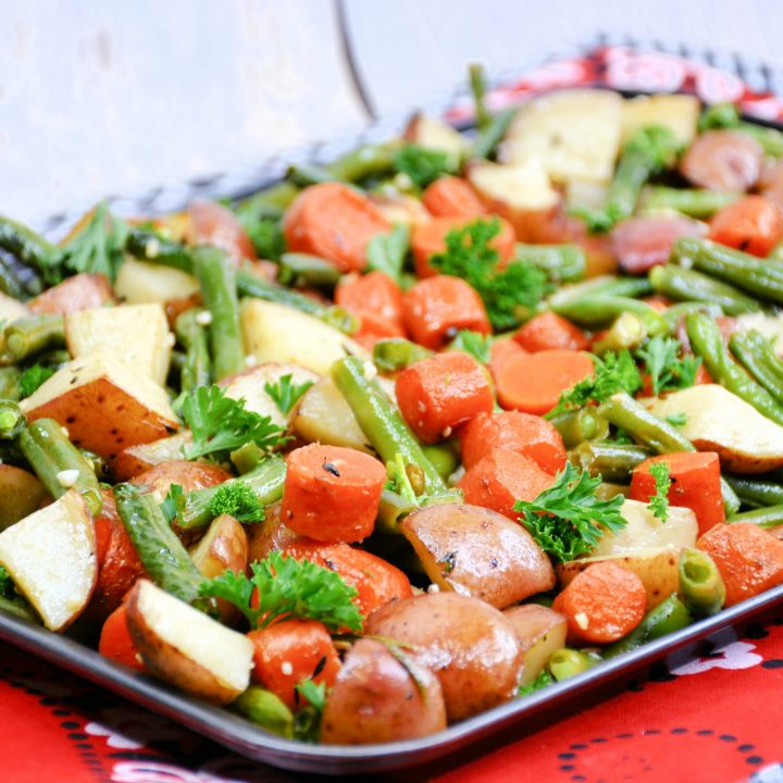 Roasted Potatoes, Carrots, and Beans
