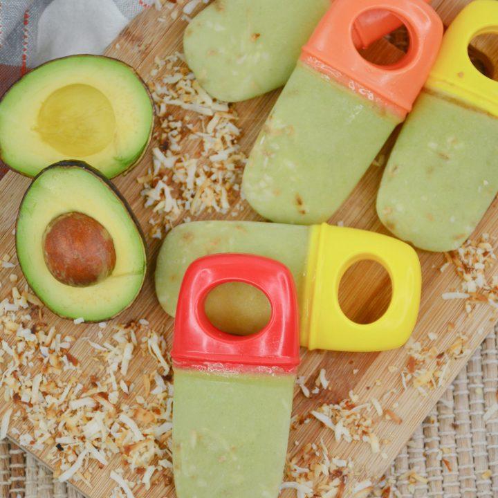 Avocado Coconut Popsicles